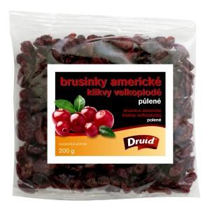 Brusinky americké, klikvy velkoplodé DRUID - půlené 200 g