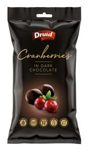 Brusinky v hořké čokoládě 90 g