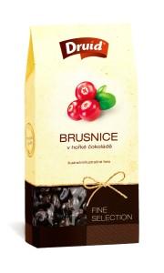 Brusnice v hořké čokoládě (krabička) DRUID 90 g