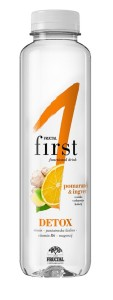 DETOX pomeranč-zázvor Fructal funkční voda