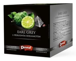 Earl Grey s přírodním bergamotem - černý ochucený čaj DRUID 27 g