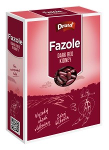 Fazole Dark Red Kidney (krabička) DRUID 350 g