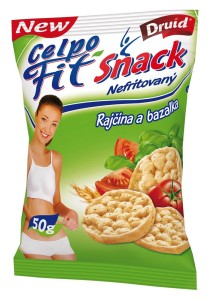Fit Snack - Rajče a bazalka 50 g DRUID