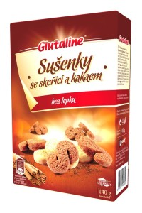 Glutaline sušenky se skořicí a kakaem bez lepku (Esíčka) 140 g DRUID