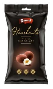 Lískové ořechy v mléčné čokoládě 90 g
