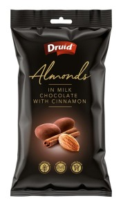 Mandle v mléčné čokoládě se skořicí 90 g