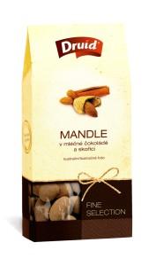 Mandle v mléčné čokoládě se skořicí (krabička) DRUID 110 g