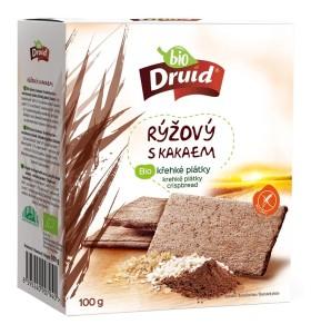 Rýžový s kakaem BIO křehké plátky DRUID