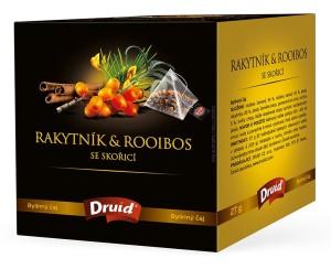 Rakytník & Rooibos se skořicí - bylinný čaj DRUID