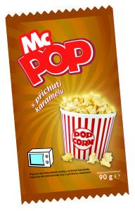Pop Corn MCPOP mikro - s příchutí karamelu 90 g DRUID