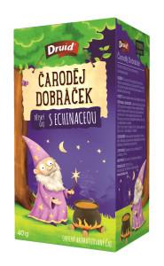 Čaroděj Dobráček Dětský ovocný aromatizovaný čaj sechinaceou DRUID 40 g