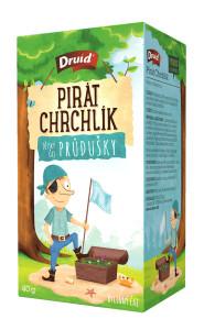 Pirát Chrchlík Dětský bylinný čaj průdušky DRUID 40 g