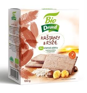 Kaštany a rýže BIO křehké plátky DRUID 100 g