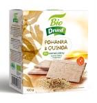 Pohanka a quinoa BIO křehké plátky DRUID 100 g