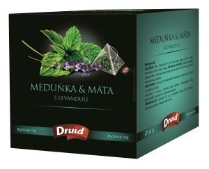 Meduňka & Máta s levandulí - bylinný čaj DRUID 21,6 g