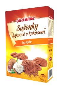 Glutaline sušenky kakaové s kokosem DRUID 120 g bez stínu