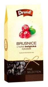 Brusnice v hořké belgické čokoládě (krabička) DRUID 90 g