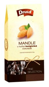 Mandle v hořké belgické čokoládě (krabička) DRUID 100 g