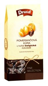 Pomerančová kůra v hořké belgické čokoládě (krabička) DRUID 90 g