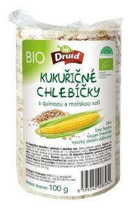 BIO kukuřičné chlebíčky s quinoou a mořskou solí 100 g