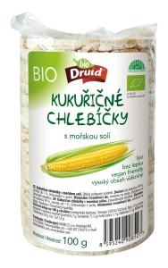 Bio kukuřičné chlebíčky s mořskou solí 100 g