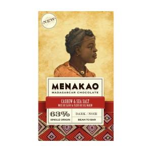 Tmavá čokoláda Menakao kešu a mořská sůl