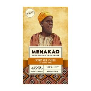 Mléčná čokoláda Menakao kokosové mléko a vanilka